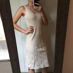Banana Republic cream Silk Slip Dress